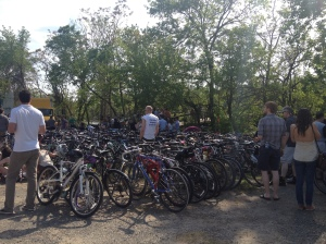 The festival attracted an environmentally conscience crowd.