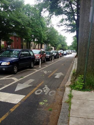 Buffered bike lane.