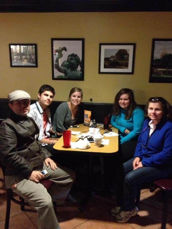 Family dinner at Jason's Deli.