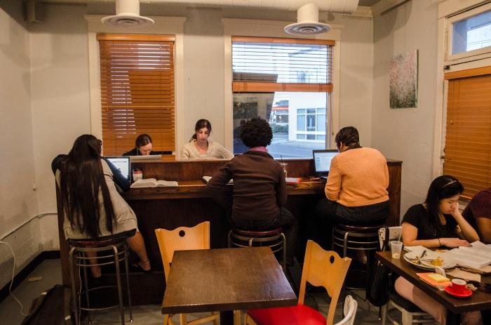 Northside Social as workspace.