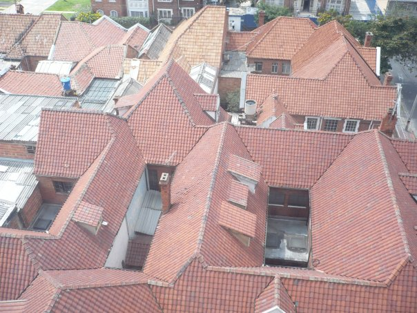 The orange roofs of Chapinero. A view from one of my many homes in Bogota.