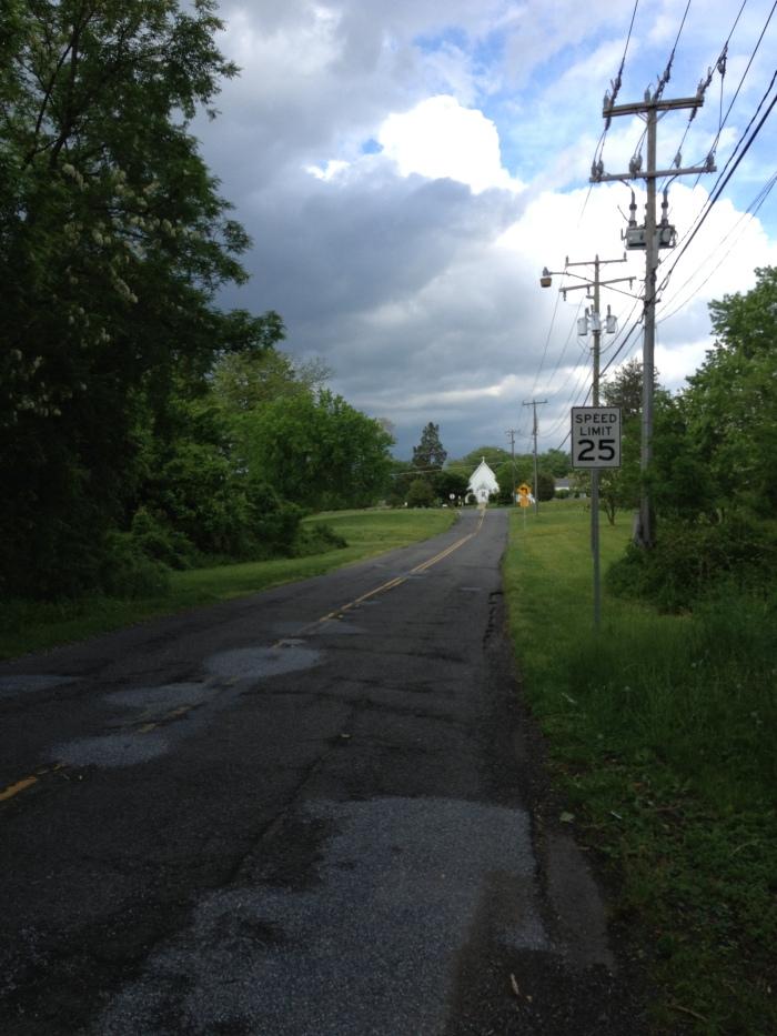 Road leading to St. John's  Episcopal Church.
