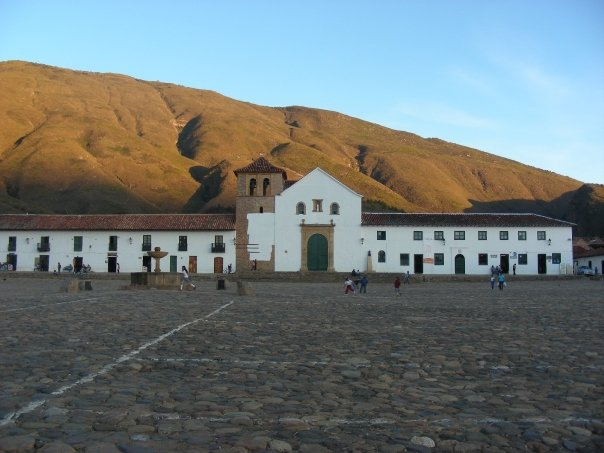 The white church in La Plaza de Villa de Leyva. This picture was taken about a mile down from where the picture of the campesina was taken. This is the biggest plaza I've ever been in besides Tiananmen Square in Beijing. Villa de Leyva is a gorgeous, touristy town about four hours from Bogota.