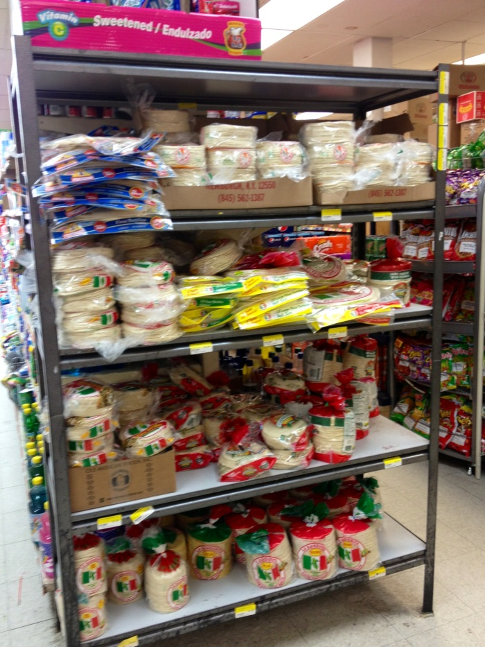 It's a little blurry, but here you can appreciate the tortilla selection.