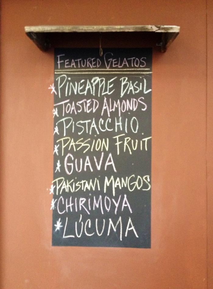 Some of Boccato's gelato flavors.