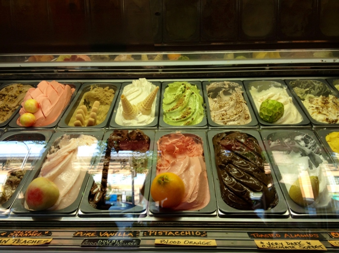The gelato counter at Boccato.
