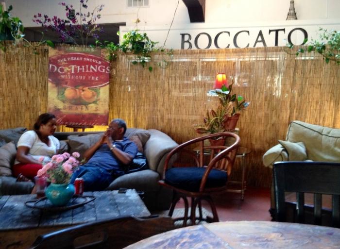 Seating at Boccato.