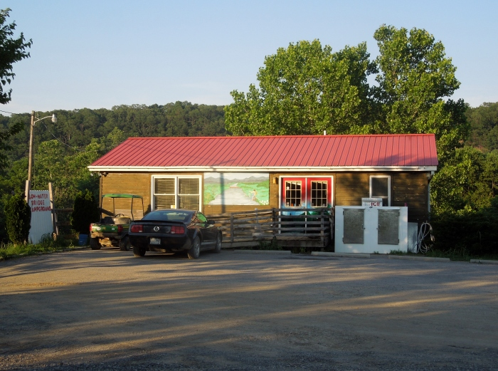 The campground store at Low Water Bridge campground.