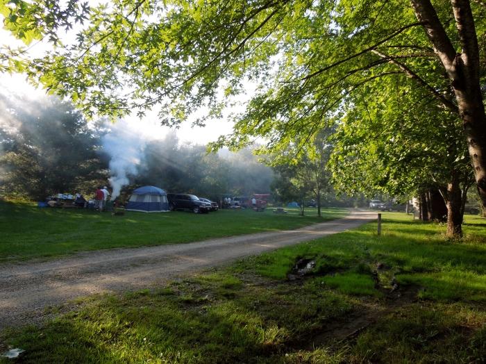 Campfires.