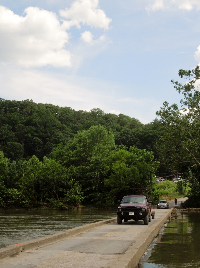 The water wasn't so low at Low Water Bridge Campground.