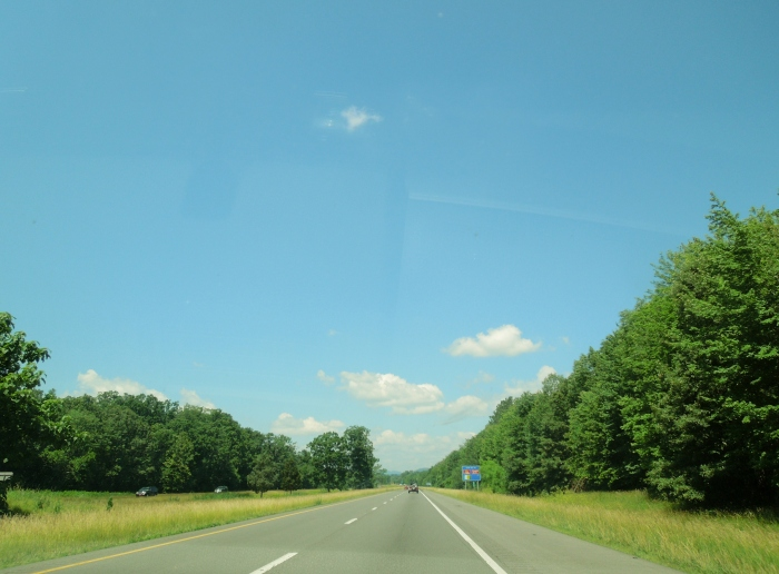 Cruising down 66 on the way to Low Water Bridge Campground, about an hour from Fairfax in the Shenendoah region.