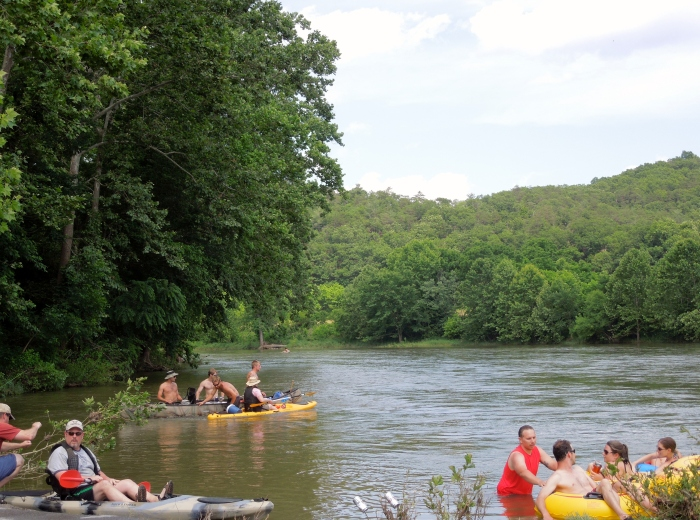 Tubing and kayaking on the Shenendoah River.