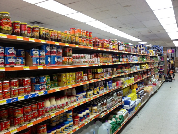 Canned goods section.