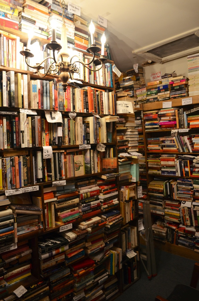 You can appreciate how crowded the shelves are here. A very romantic, nostalgic kind of place in its own way.