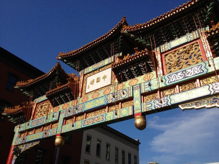 The Chinatown arch. I've never really seen all that many Chinese people in Chinatown, so I did a little Wikipedia research on this small neighborhood. According to Wikipedia, Chinese immigrants began arriving in Chinatown in the 1930s, but after the 1968 riots, much of the Chinese population left for the Virginia and Maryland suburbs. However, Chinatown remained predominantly Asian as recently as 1990, when 66% of the population was Asian. As of 2010, only 21% of Chinatown residents are Asian. Compared to the Chinatown neighborhoods of San Francisco, Toronto and New York, D.C's Chinatown is pretty small. Sure, all the restaurants and businesses' names are translated into Chinese, but it doesn't feel as dynamic or, well, Chinese, as Chinatowns in most major cities. This is an example of a D.C neighborhood that has gentrified quickly and is now home to a large yuppie population. New, upscale condominiums and apartments have sprouted up, though the area does still have a (very slightly) rough feel in some areas.