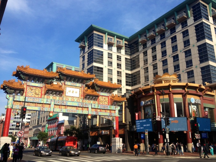 "The Chinatown arch, technically known as ""the Friendship Archway"" was built in 1986 by Taiwanese/D.C architect Alfred H. Liu."