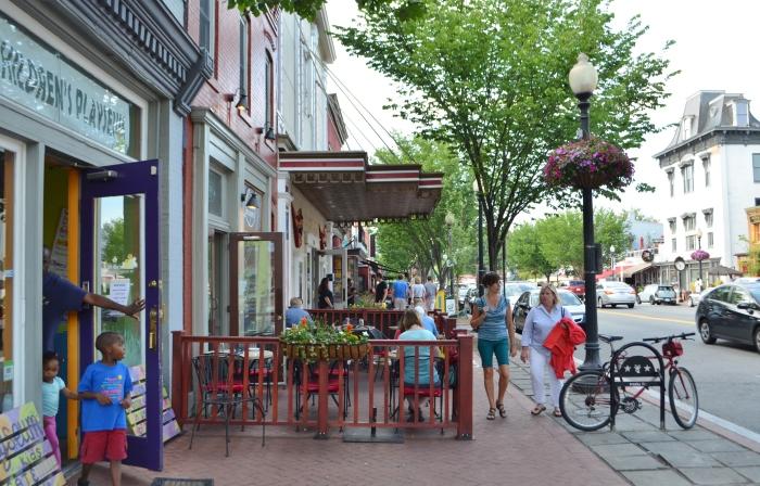 Cafe/restaurant scene across from Eastern Market.