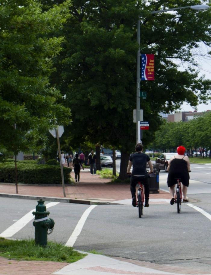 Young urban bikers using D.C's bike share program.