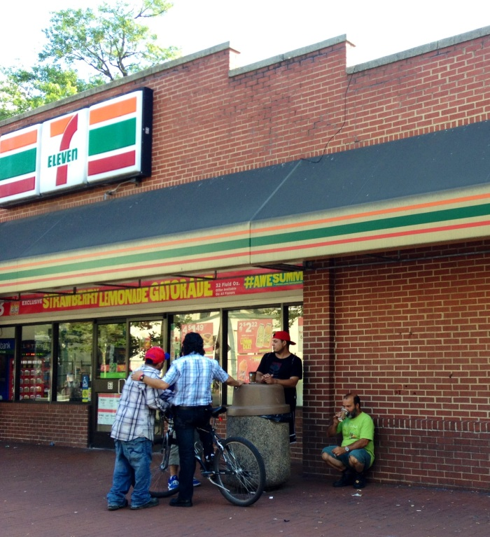 Hanging out at 7-Eleven.