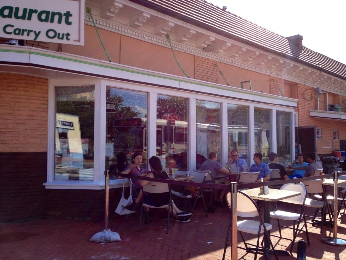 Dining on the patio at Don Juan on Mount Pleasant Street.
