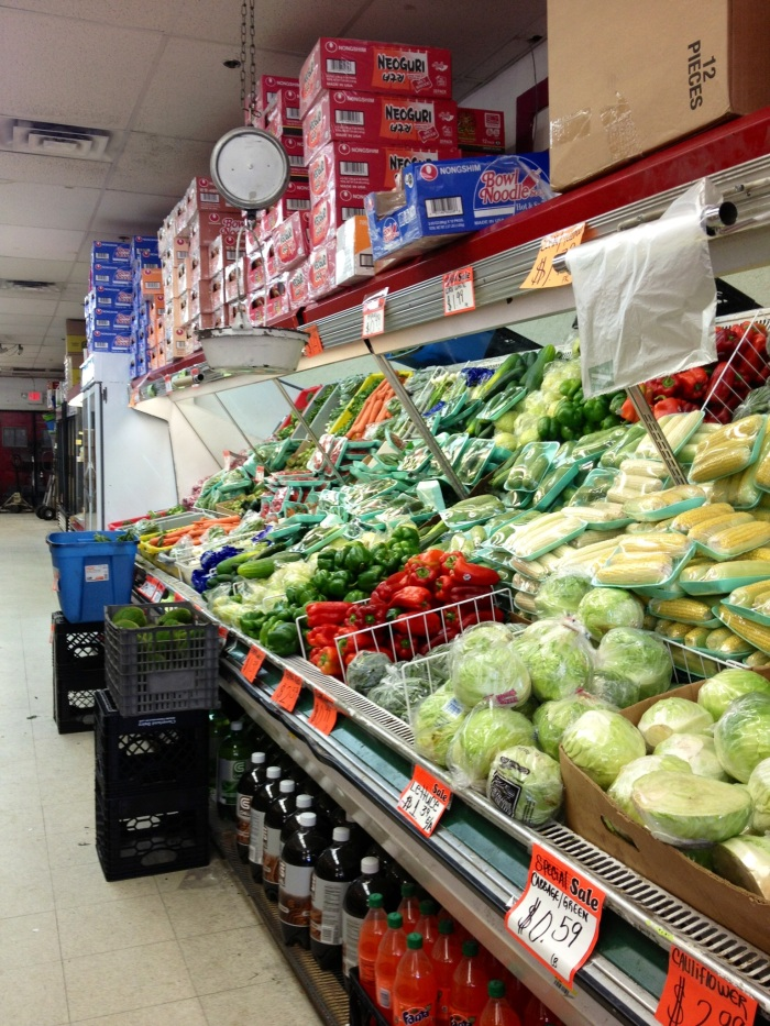 Produce section.