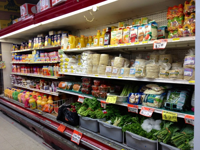 Produce, juice and more tortillas and arepas.