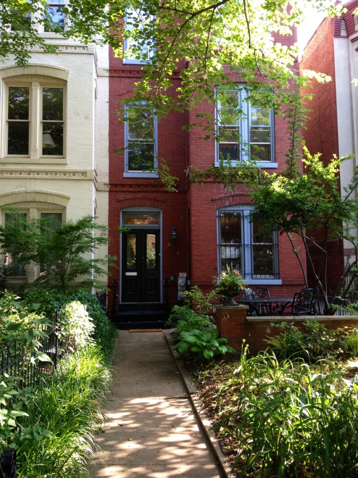 Typical D.C rowhouse. Capitol Hill's residential area is predominated by traditional D.C rowhouses.