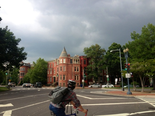 We walked from Freedom Plaza to the U-Street neighborhood (A very hot, blister-producing 1.6 mile walk) and the whole time, it was threatening to storm.