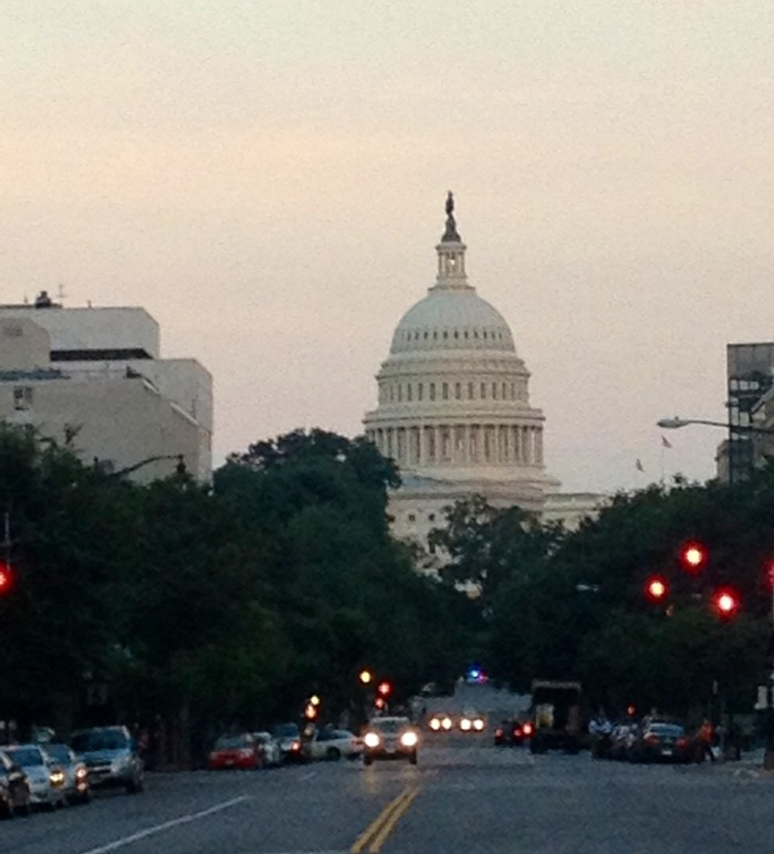 Capitol Hill at dusk. I've been binging on House of Cards this week and was seeing Washington through a (very calculating and evil) House of Cards Perspective. Yesterday as I was painfully walking through D.C, I couldn't help but feel a little bit lucky to live so close to such a powerful city.