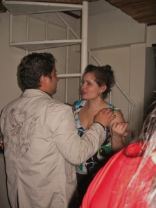 Getting my flirt on with a Colombian man back in the day.