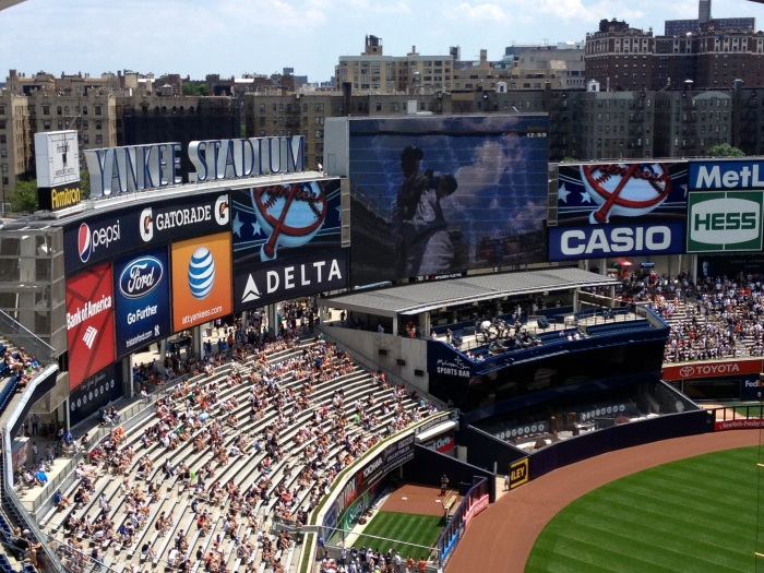 Yankee's Stadium and view of the Bronx.