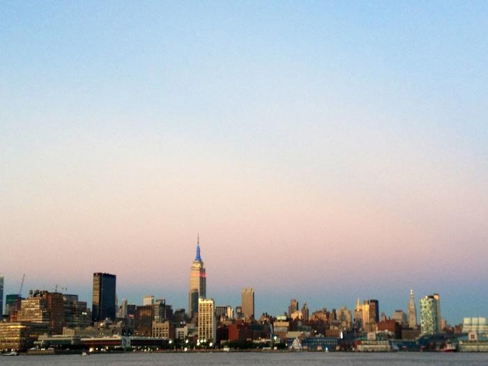 New York City skyline from Hoboken.
