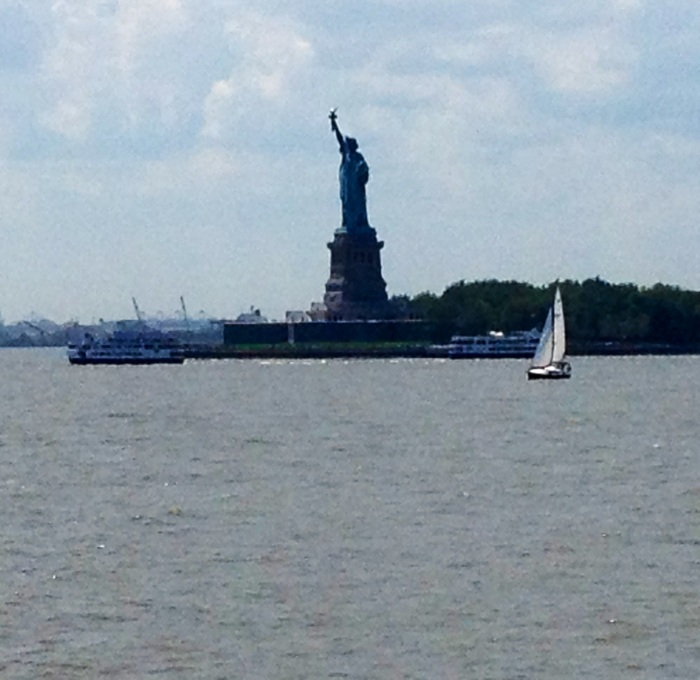 The closest I've been to the Statue of Liberty. It's a little blurry, but this is a view from the Staten Island Ferry.
