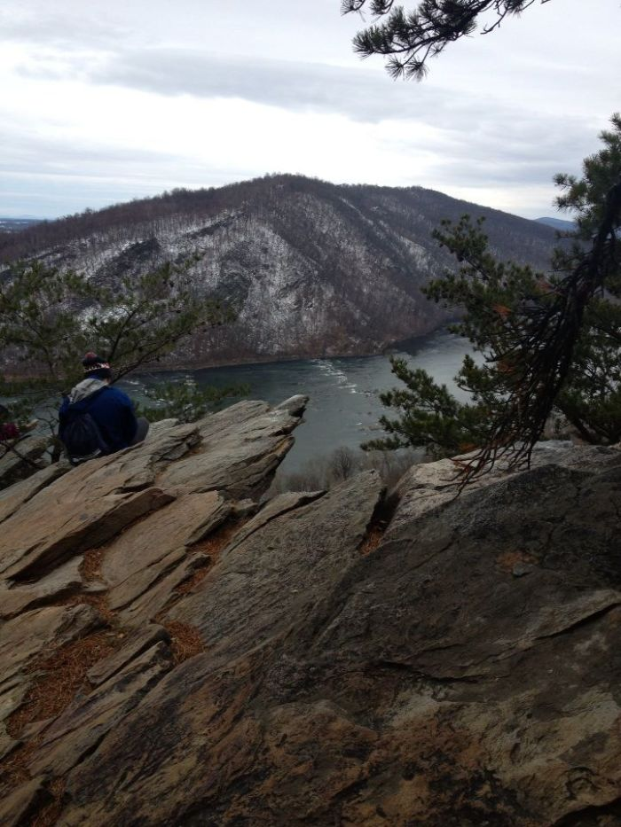 My brother on the Appalachian Trail somewhere in Maryland or West Virginia.