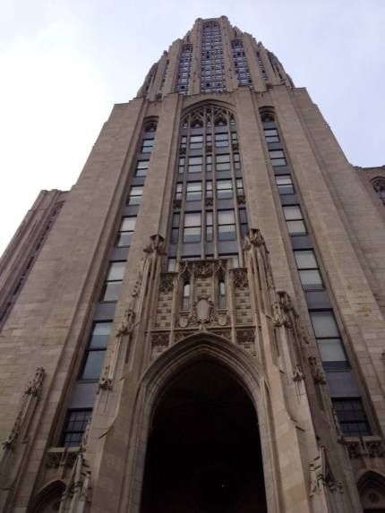 The University of Pittsburgh's Cathedral of Learning. I have to admit I was a little disappointed...for some reason I expected something very opulent and over-the-top...but it was mostly just classrooms and administrative buildings.