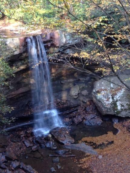 Cucumber Falls near Ohiopyle State Park in southwestern Pennsylvania.