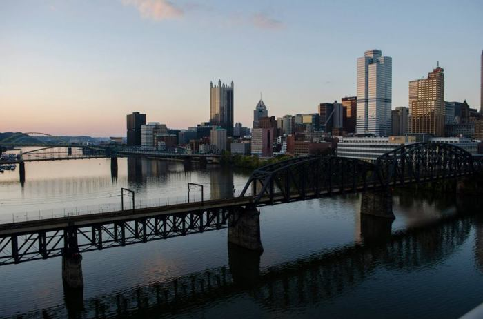 Downtown Pittsburgh. This pictures was taken by my brother and it shows a nice view of the Pittsburgh skyline. For such a small city (just over 300,000) it has a pretty impressive skyline. Then again, it used to be a city of over 600,000.