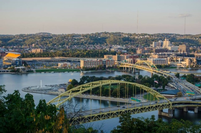 Panoramic view of Pittsburgh, courtesy of my brother.