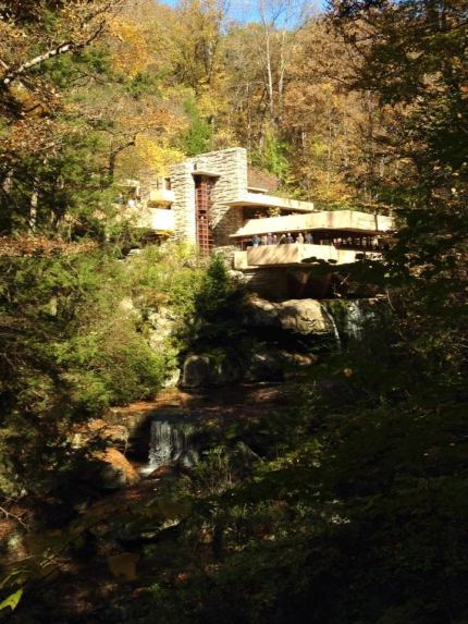 View of Falling Water, about an hour from Pittsburgh.