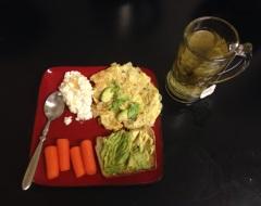 Yesterday's dinner.
