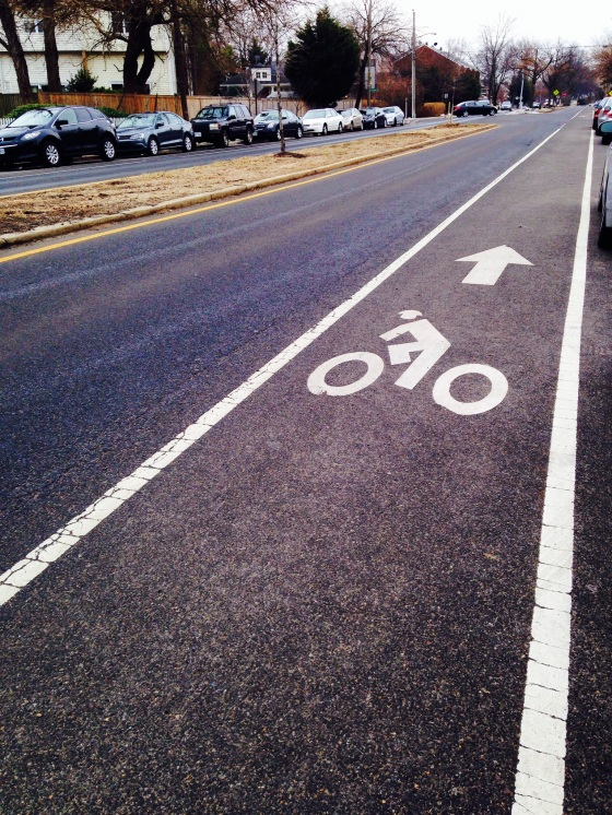 Residential bike lane.
