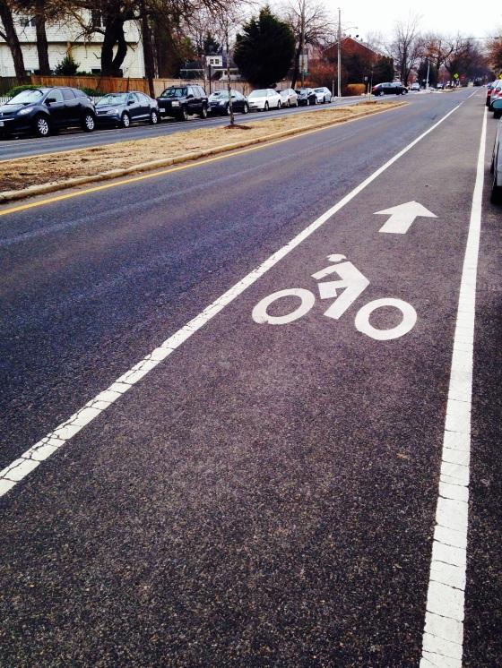 Residential bike lane.