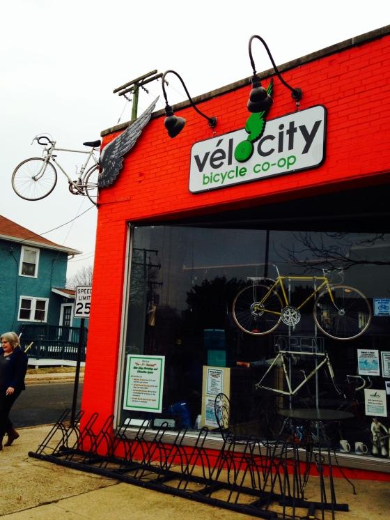 Bike shop/workshop.