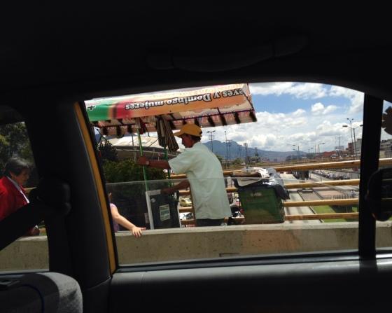Bogota street cart food vendor.