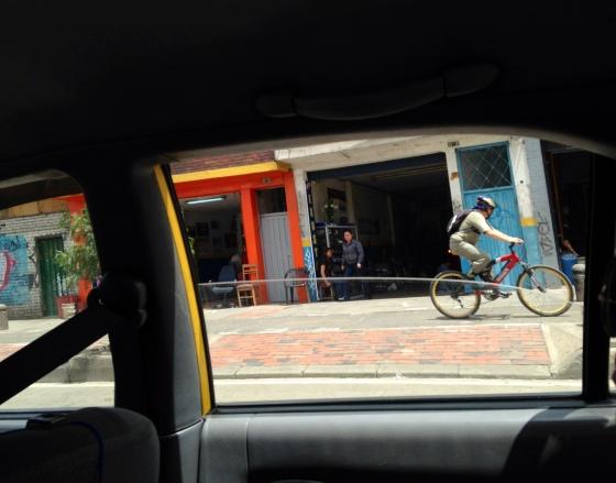 Bogota biker.