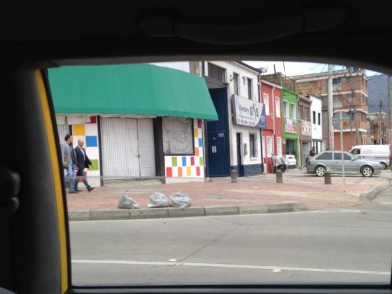 Typical Bogota neighborhood.