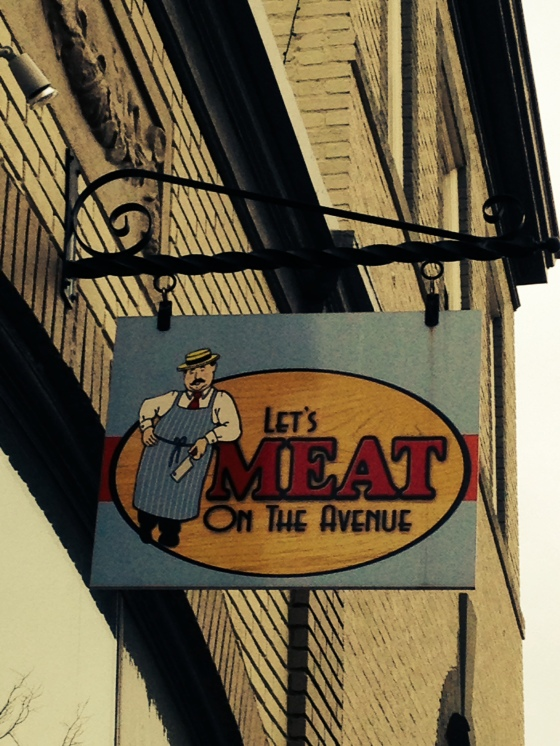 Butcher shop! How many of these do you see in the 'burbs???