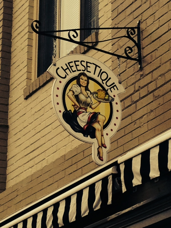 A cheese shop/restaurant.