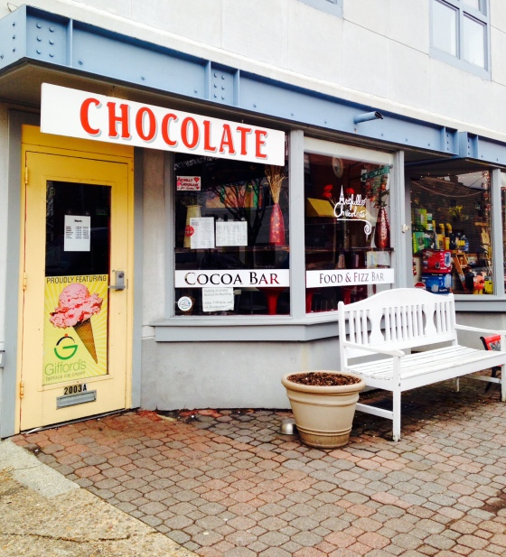Chocolate shop on Main Street.