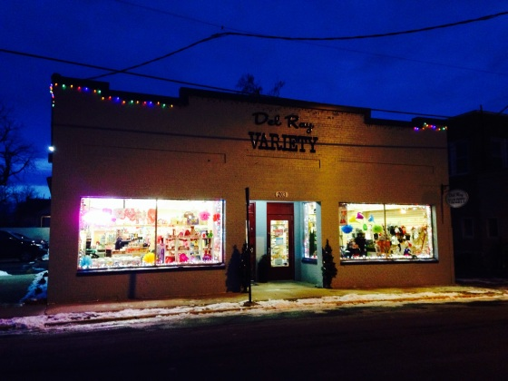 The Del Ray Variety Shop. Here you  can find everything from yarn to school supplies to home supplies.